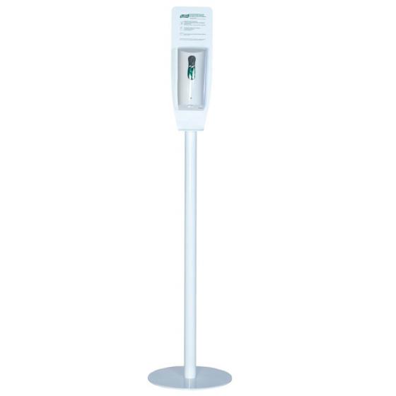 Напольная стойка, оснащенная диспенсером с гелем Sanitelle® с сенсорным дозатором