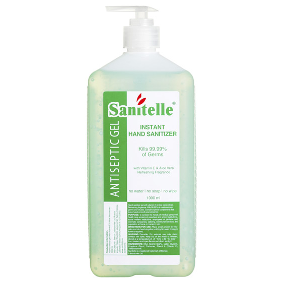 (English) Sanitelle® HHD Instant Sanitizing Gel for Hygienic Hand Disinfection, fragranced