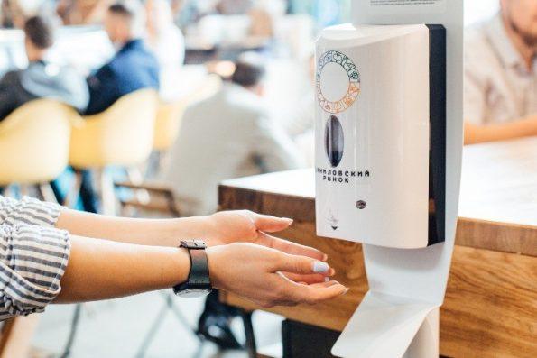 Стойки для санации рук от Sanitelle ® на Даниловском рынке