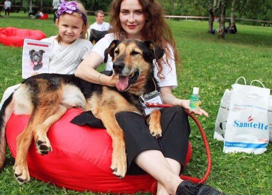 Бренд Sanitelle ® принял участие в фестивале «Собаки, которые любят»