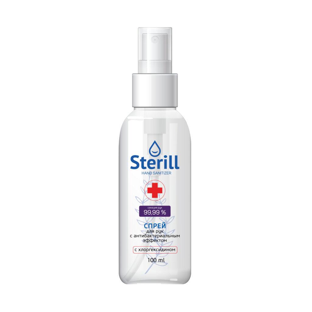 Спрей для рук с антибактериальным эффектом Sterill